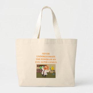 evil genius large tote bag