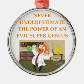 evil genius metal ornament