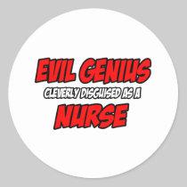 Evil Genius...Nurse Stickers