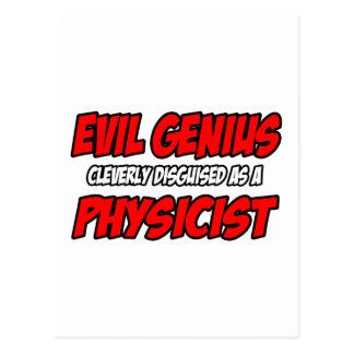 Evil Genius...Physicist Postcard