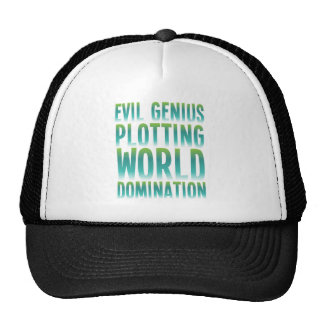 EVIL GENIUS PLOTTING WORLD DOMINATION TRUCKER HAT