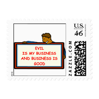 evil genius postage stamps