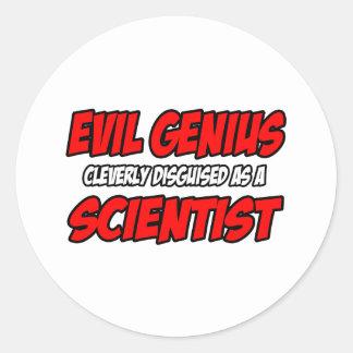 Evil Genius...Scientist Round Stickers