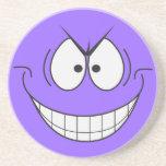 Evil Genius Smiley Face Coaster