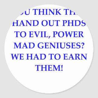 evil genius sticker