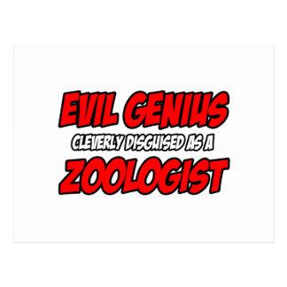 Evil Genius...Zoologist Postcard