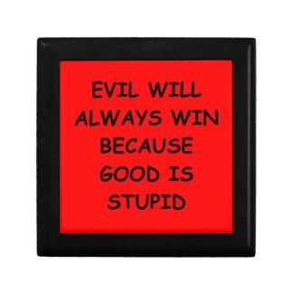 evil gift box