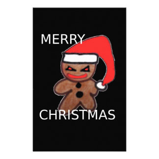 Evil Gingerbread boy Customized Stationery