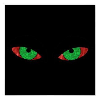 Evil Green Eyes Poster