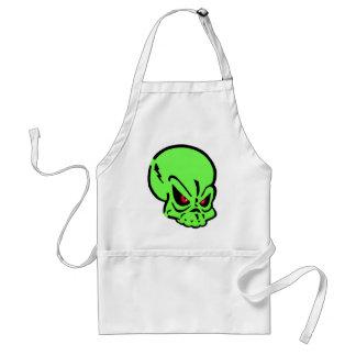 Evil Green Skull Aprons