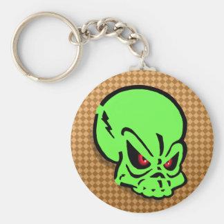 Evil Green Skull Keychain