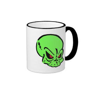 Evil Green Skull Mug
