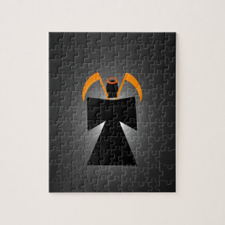 Evil grim reaper death puzzle