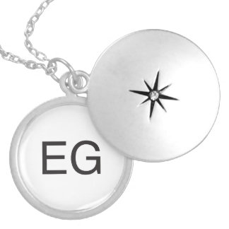 Evil Grin.ai Round Locket Necklace