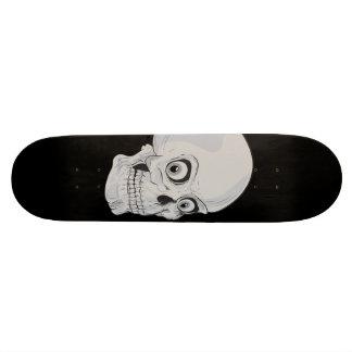 Evil Grinning Gothic Skull Custom Skateboard