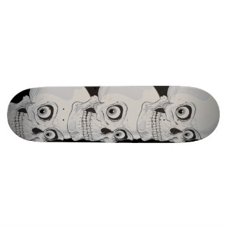 Evil Grinning Gothic Skulls Custom Skateboard