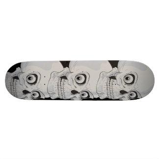 Evil Grinning Gothic Skulls Skateboard Deck
