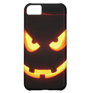 Evil grinning Halloween Pumpkin Face Cover For iPhone 5C