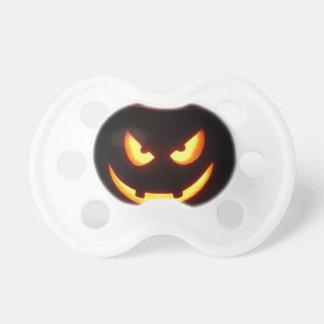 Evil grinning Halloween Pumpkin Face Pacifier