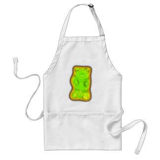 Evil gummy bear adult apron