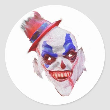 Evil Halloween Clown Face Stickers