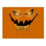 Evil Halloween Eyes Postcard
