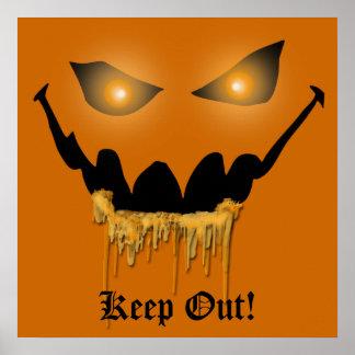 Evil Halloween Eyes Poster Print