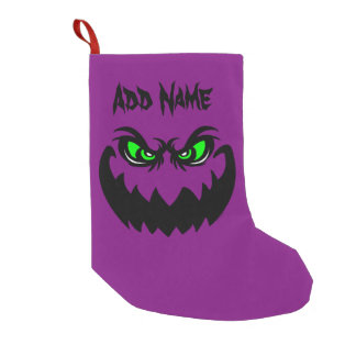 Evil Halloween Ghoul Face Small Christmas Stocking
