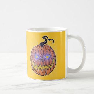 Evil Halloween Pumpkin Art Coffee Mug