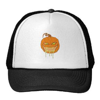 Evil Halloween Pumpkin Art Trucker Hat