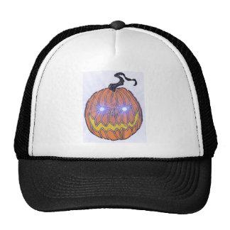 Evil Halloween Pumpkin Art Trucker Hats