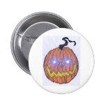 Evil Halloween Pumpkin Art Pinback Buttons