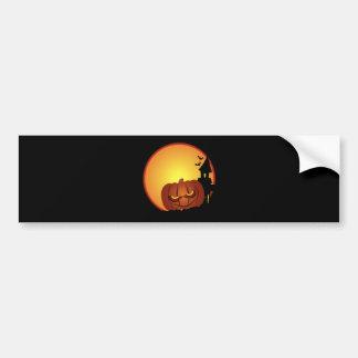 Evil Halloween Pumpkin Scene Bumper Sticker