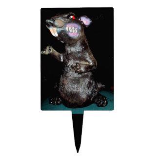 EVIL HALLOWEEN RAT topper Rectangular Cake Toppers