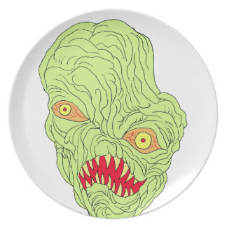 Evil Head Art Party Plate