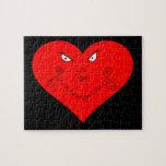 Evil Heart Face Jigsaw Puzzle