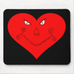 Evil Heart Face Mouse Pad