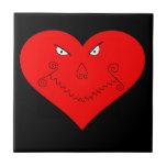 Evil Heart Face Tile