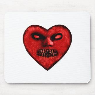 Evil Heart Shape Dark Monster Mouse Pad