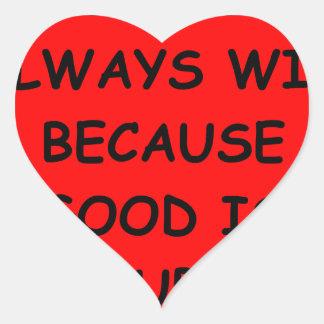 evil heart sticker