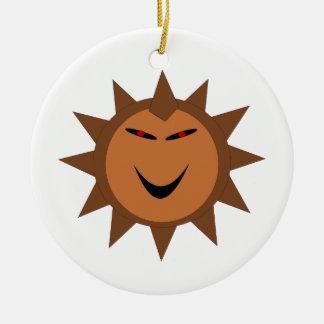 Evil Hedgehog Kawaii Goth Halloween Ornament
