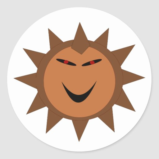Evil Hedgehog Kawaii Goth Halloween Stickers