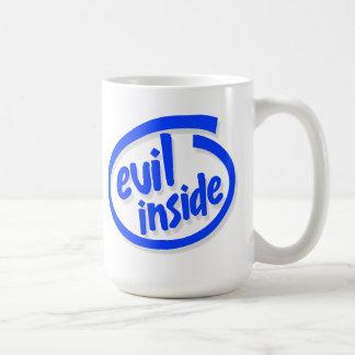 Evil inside classic white coffee mug