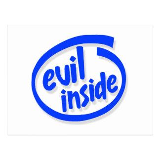 Evil Inside Postcard
