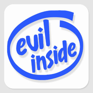 Evil Inside Square Sticker
