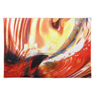 Evil Intent Abstract Cloth Place Mat