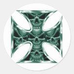 Evil Iron Cross 4 Classic Round Sticker