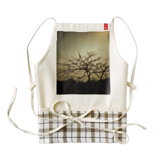 Evil is in the air zazzle HEART apron