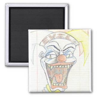 Evil Jack in the box  Klown Fridge Magnet