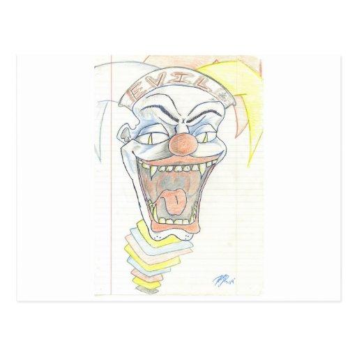 Evil Jack in the Box Postcards